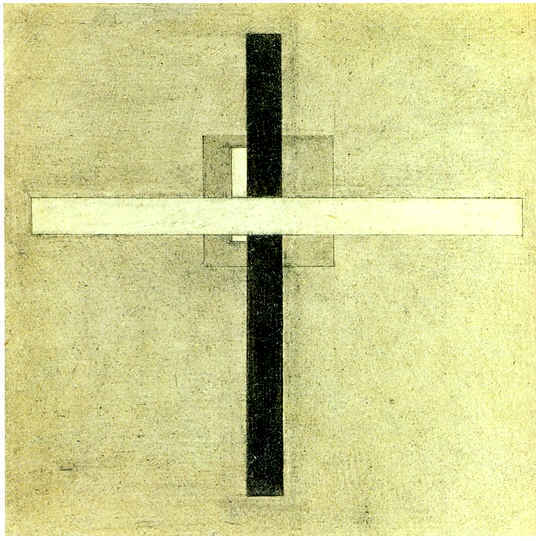 Composition with a Cross. 1921-1922